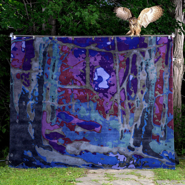 In The Woods at Night 8 x 10 Rug