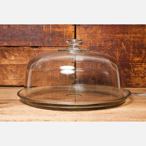 Glass Cake Plate With Domed Lid