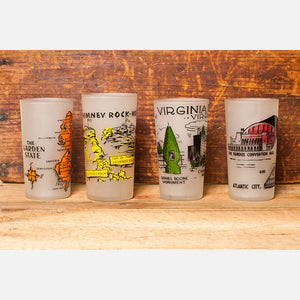 1960s NJ Souvenir Glasses Set