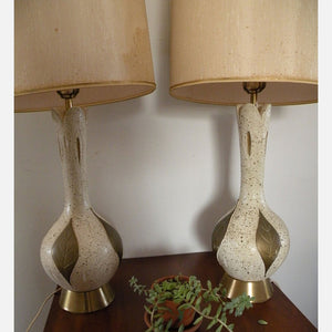 50s Hollywood Regency Lamps Pair