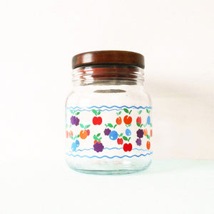 Fruity Vintage Glass Canister
