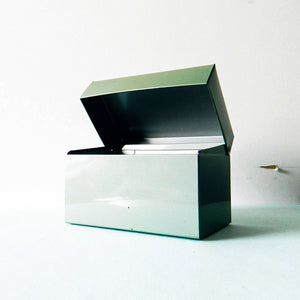Industrial Metal Card File Box