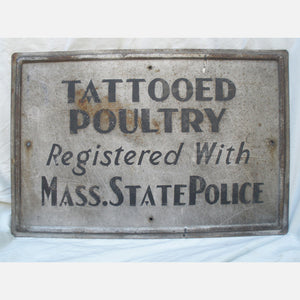 Depression Tattooed Poultry Sign