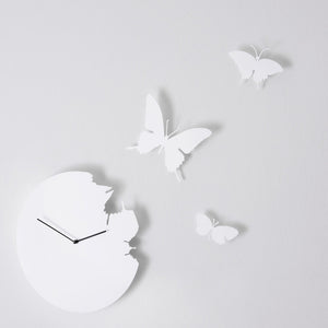 Butterfly Clock White