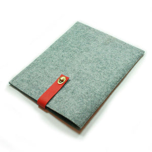 Felt iPad Case Red Leather