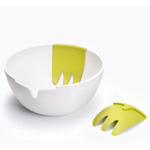 Hands On Salad Bowl White