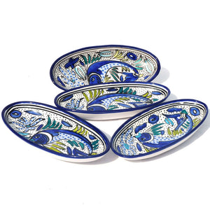 Fish Oval Platter Small Set Of 4