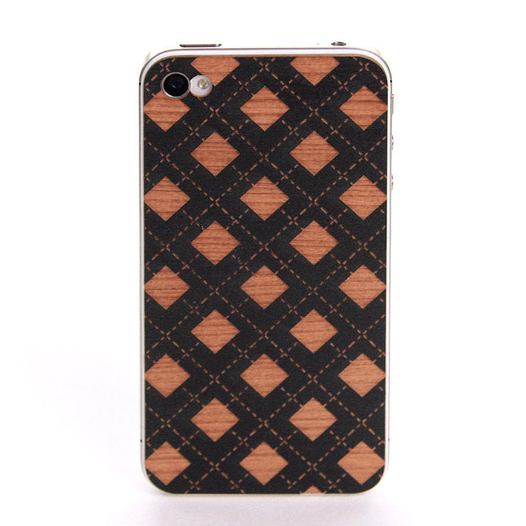 Checker iPhone 4/4S Back Black