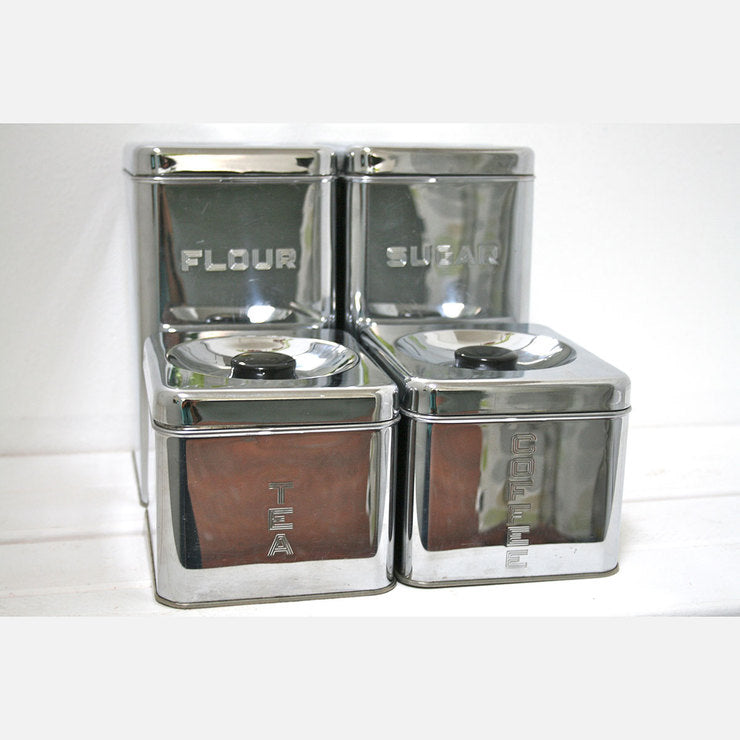 Square Canisters Set Of 4