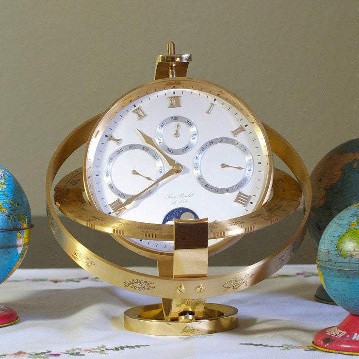 Jean Roulet Swiss Saturn Clock