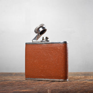 Leather Wrapped Chrome Flask