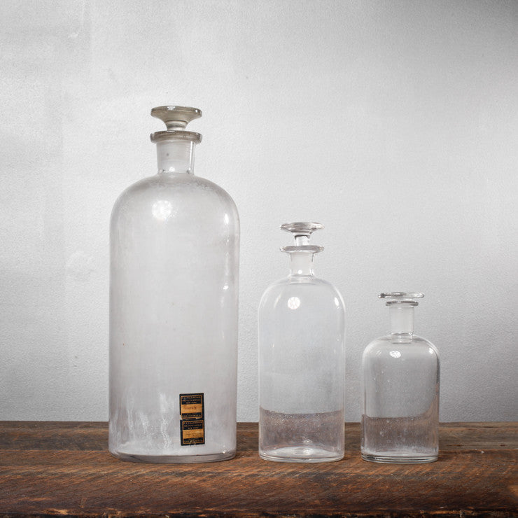 Apothecary Bottles Set Of 3