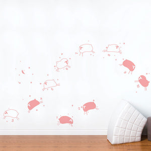 Baby Sheep Decal Pink Pastel