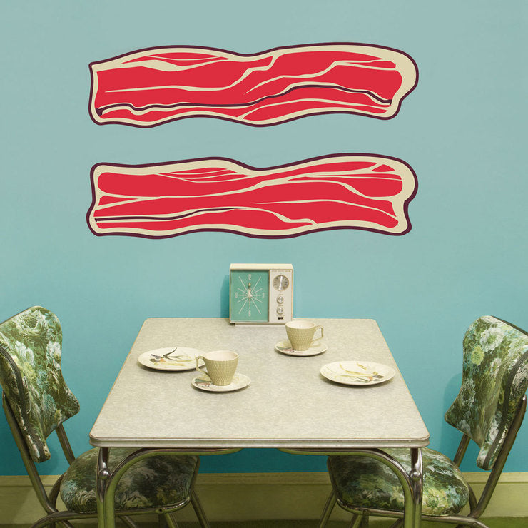 Bacon Wall Decal 2 Pack
