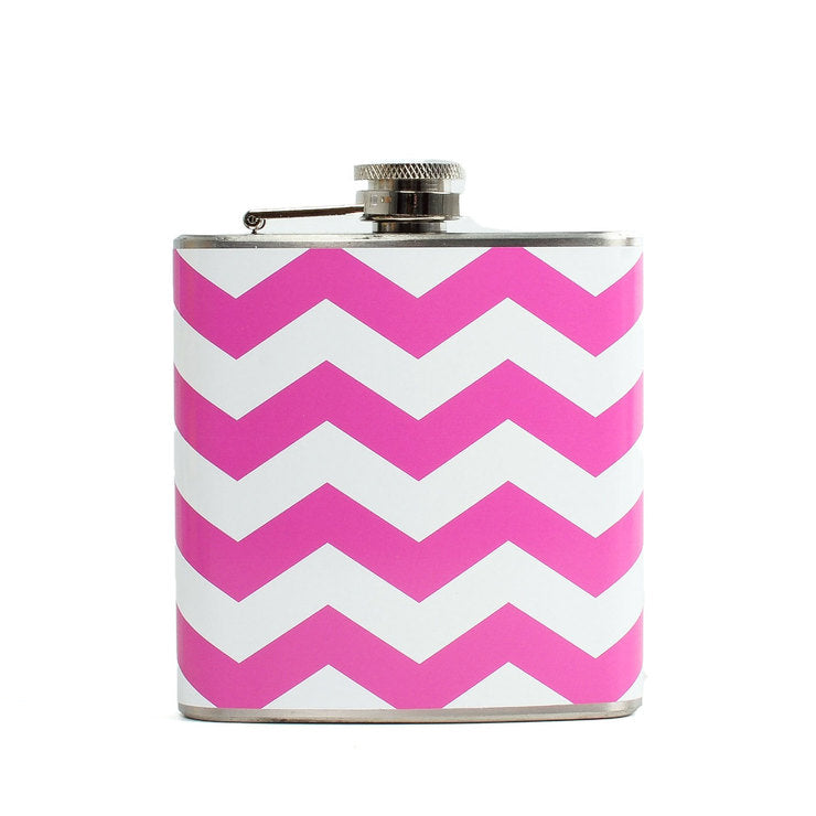 Chevron Flask Pink
