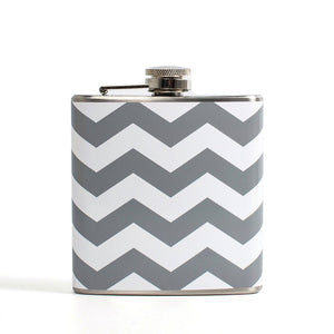 Chevron Flask Gray