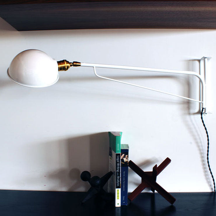 Industrial Wall Lamp 30\ White""