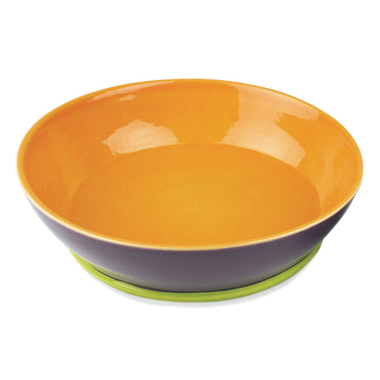 Round Serving Bowl Purple Orange