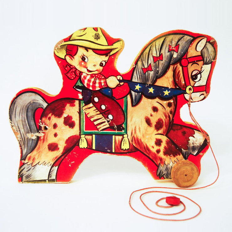 Kiddie Cowboy Pull Toy Cutout