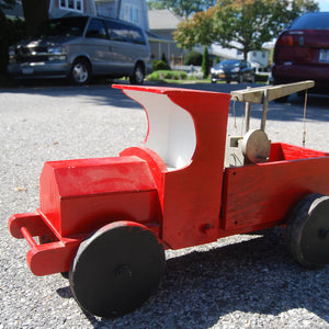 Handmade Wood Truck Red