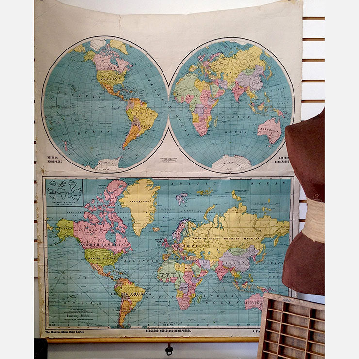 Roll Down World Map.Large Pull Down World Map Fab