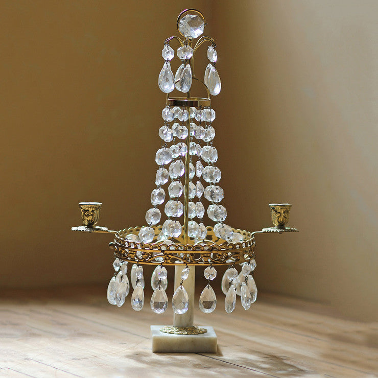 Crystal Drop Candle Holder