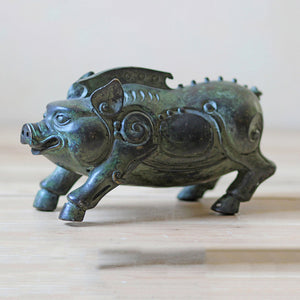Cast Iron Boar Figure