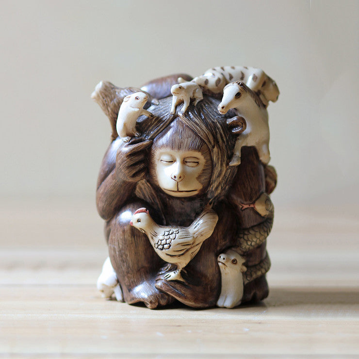 Hand-carved Animal Soapstone