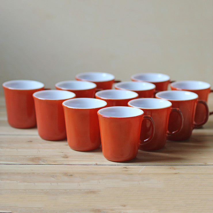 Pyrex Mugs Orange Set Of 12