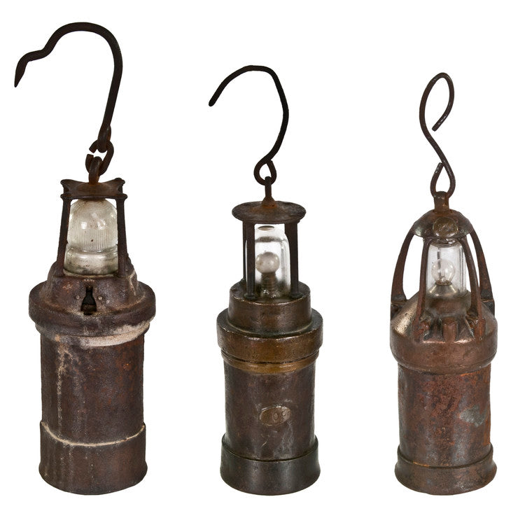 French Mining Lantern Trio