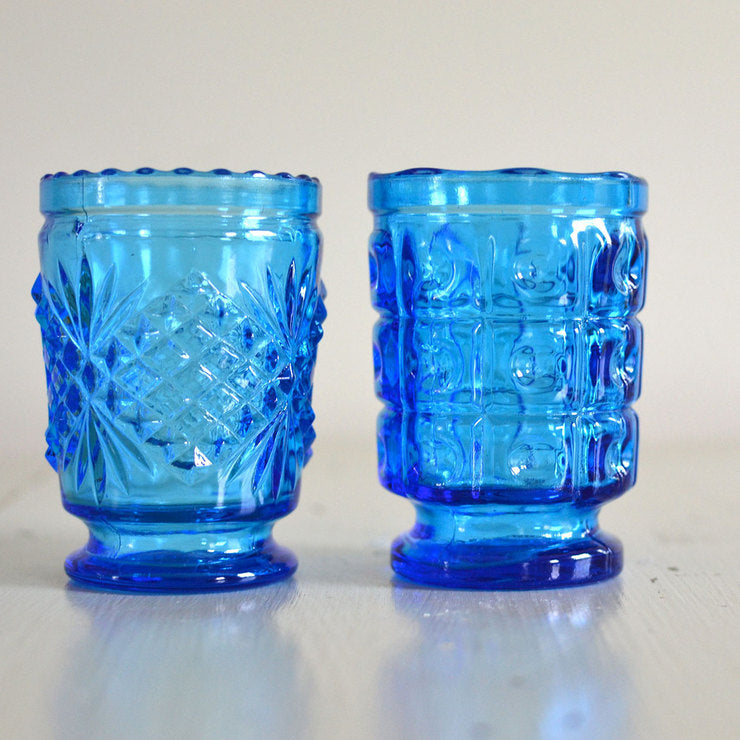 Cobalt Juice Glasses Pair II