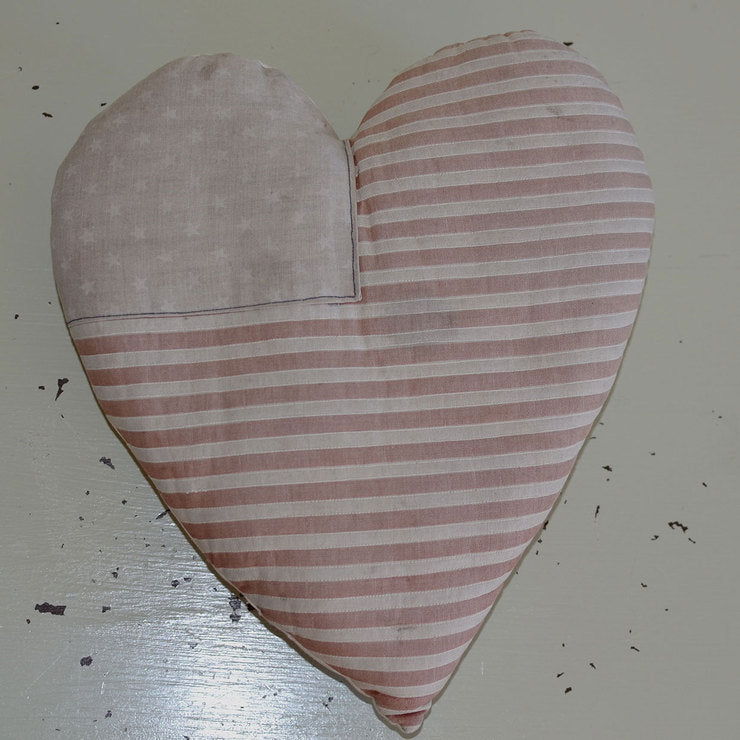 American Flag Heart Pillow