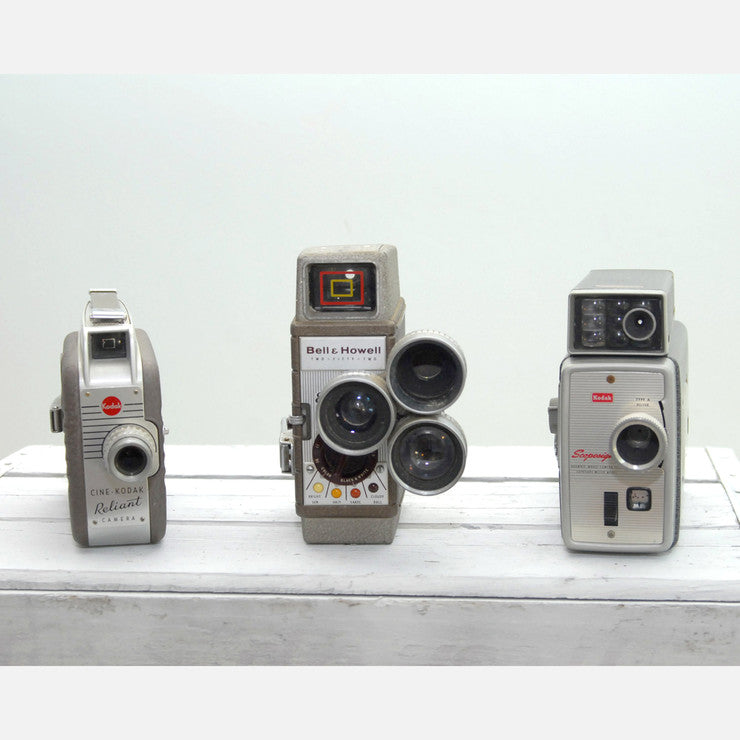 8mm Movie Cameras Trio III