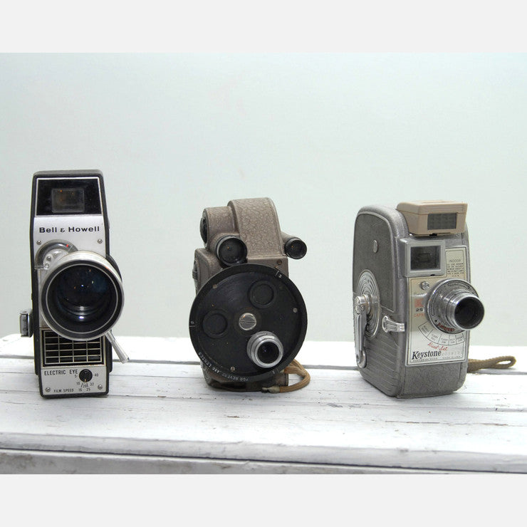 8mm Movie Cameras Trio VIII