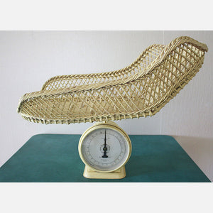 Antique Wicker Baby Scale