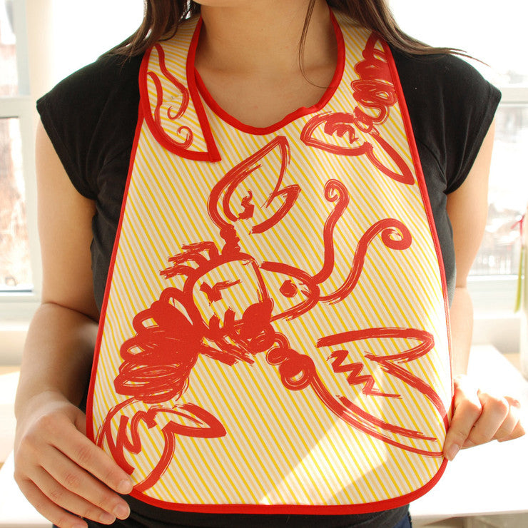 Lobster Bibs Yellow 2 Pack