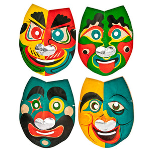 Japanese Party Masks Set Of 4