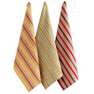 Fall Stripe Dish Towels Set Of 3