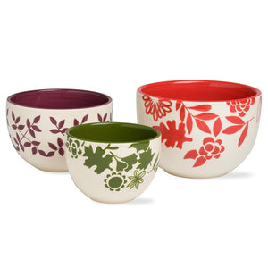 Fall Flora Bowls Set Of 3