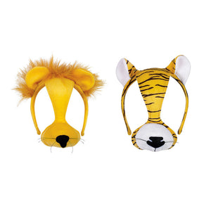 Lion And Tiger Faces Set Of 2