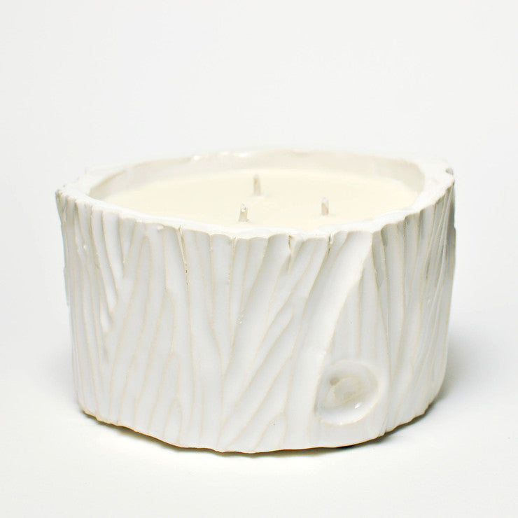 Ceramic Log Musk 20oz White