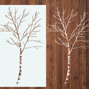 Birch Tree Stencil 6 Ft