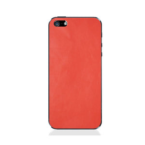 iPhone 5 Grapefruit Leather Back