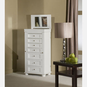 Jewelry Armoire Cabinet White