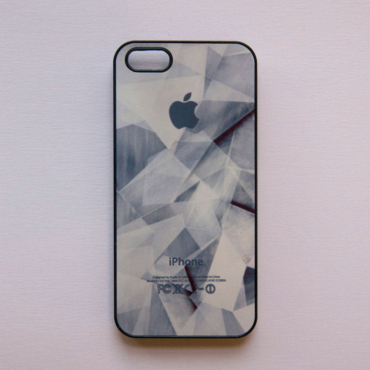 iPhone 5 Case Broken Glass Black