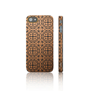 iPhone 5 Cover Flowers On Orange