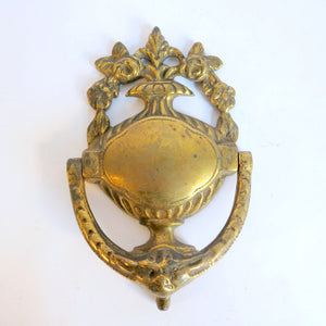 Floral Brass Door Knocker
