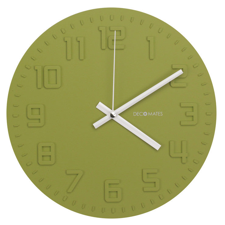 Disc Wall Clock Green Tea