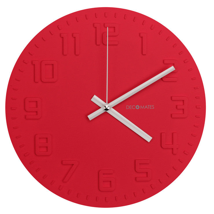 Disc Wall Clock Red