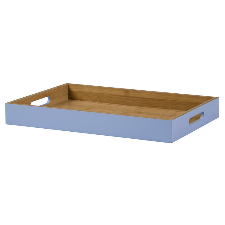 Lacquered Serving Tray Blue